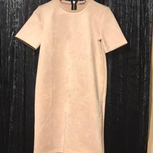 Zara Dresses - Zara Blush Faux Suede Dress
